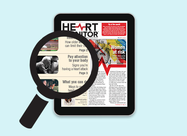 Heart monitor newsletter