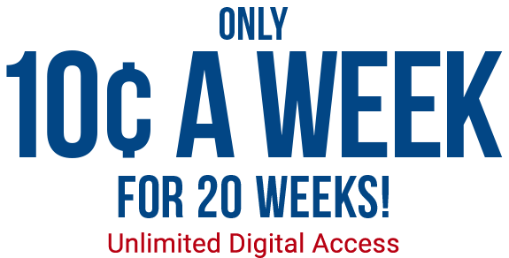 Only 10 cent a week for 20 weeks!